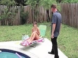 Naughty Teen Caught Using Neighbors Pool