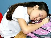 Schoolgirl Caught Sleeping on Class and Punished