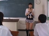 Japanese Slutty Teacher Come in School in Ultra Short Skirt