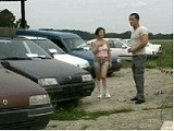 Young Girl Fucked On A Car