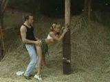Dirty Teen Gets Pounded in the Barn
